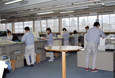 Employees at Canon Electronics