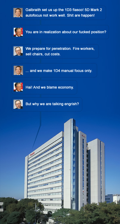 Recent conversation at Canon Inc. in Japan