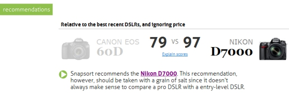Snapsort Recommends the Nikon D7000