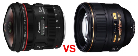 Canon EF 8-15mm f/4L Fisheye VS NIKKOR 85mm f/1.4G