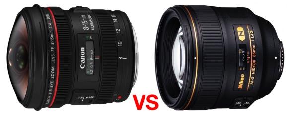 Canon EF 8-15mm f/4L Fisheye VS NIKKOR 85mm f/1.4G