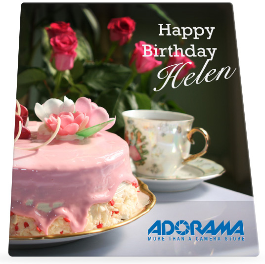 Adorama's Birthday card to Helen