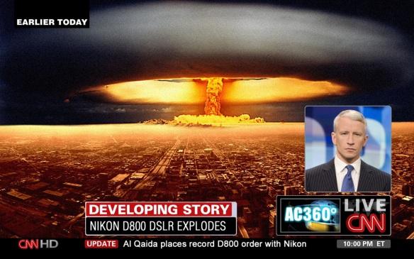 Nikon D800 Explodes