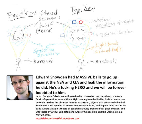 Edward snowden is a fucking hero fake chuck westfall for Fabric of space time explained
